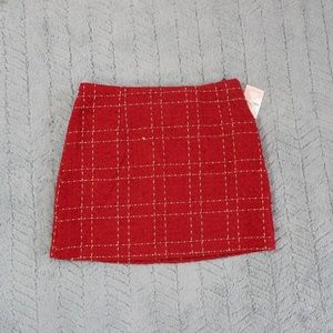 ❤️Red and Gold Plaid Skirt❤️